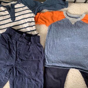 Old Navy Miles Long Sleeve Blue 12-18 Mo